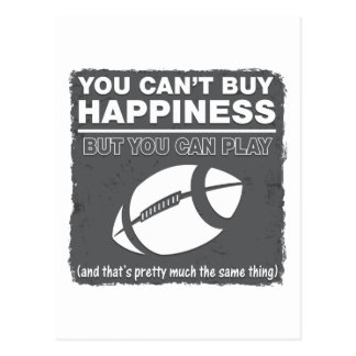 Can't Buy Happiness Football Postcard