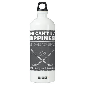 Can't Buy Happiness Hockey Aluminum Water Bottle