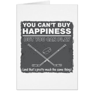 Can't Buy Happiness Hockey Card