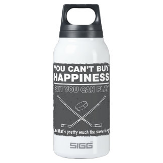 Can't Buy Happiness Hockey Insulated Water Bottle