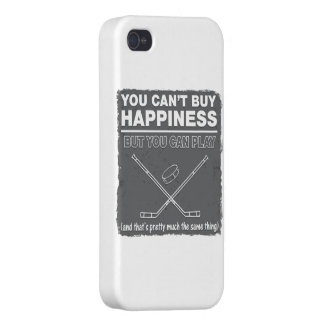 Can't Buy Happiness Hockey Cover For iPhone 4
