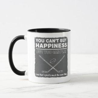 Can't Buy Happiness Hockey Mug