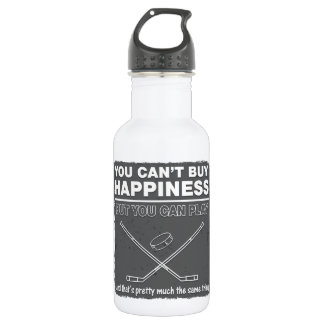 Can't Buy Happiness Hockey Water Bottle