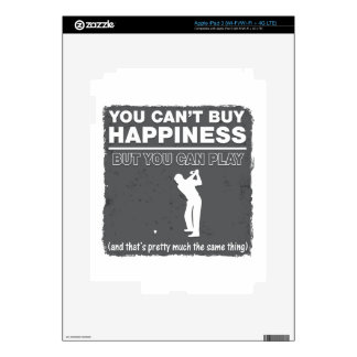 Can't Buy Happiness Play Golf Decal For iPad 3