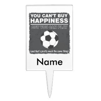 Can't Buy Happiness Soccer Cake Picks