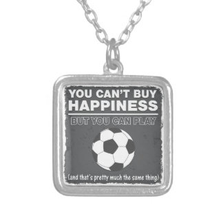 Can't Buy Happiness Soccer Custom Necklace