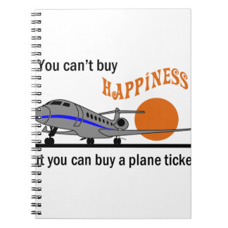 Cant Buy Happiness Spiral Notebook