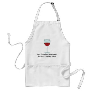 Can't Buy Happiness (Wine) Adult Apron