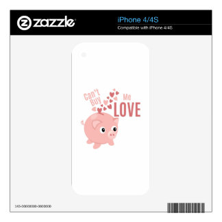 Cant Buy Love iPhone 4 Skins