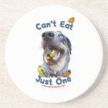 Can't Eat Just One Bird Dog Drink Coasters