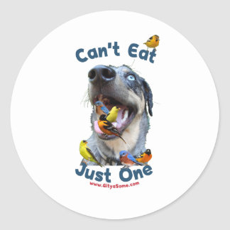 Can't Eat Just One Bird Dog Stickers