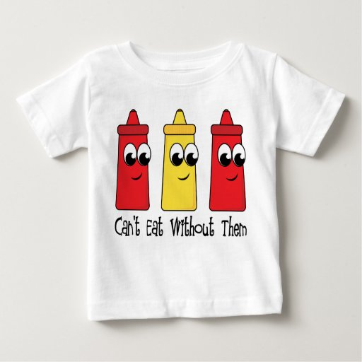 Can't Eat Without Ketchup and Mustard Tshirts