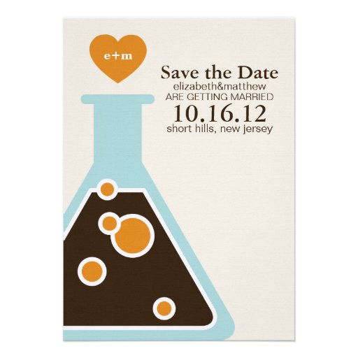 Can't Fight Chemistry Wedding Save the Date Personalized Invitation