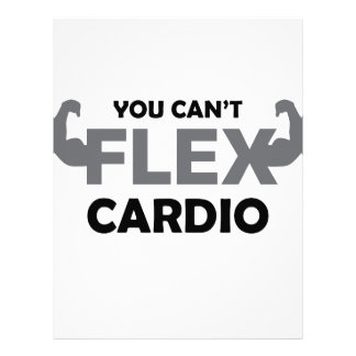 Can't Flex Cardio Letterhead