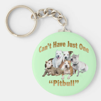 Can't Have Just One Pitbull Keychain