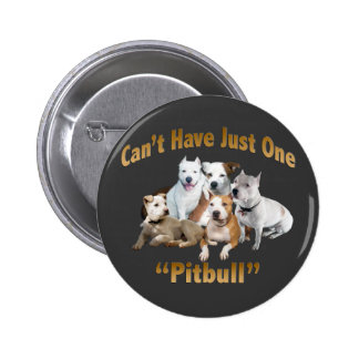 Can't Have Just One Pitbull Pinback Button