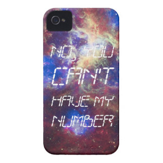 cant have my number iPhone 4 cover