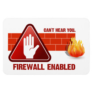 Can't hear you. Firewall Enabled Magnet
