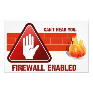 Can't hear you. Firewall Enabled Photographic Print