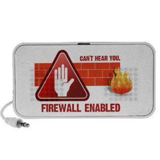 Can't hear you. Firewall Enabled Mp3 Speakers