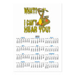 cant hear you ignoring dragon cartoon large business cards (Pack of 100)