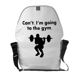 Can't I'm Going To The Gym Messenger Bag