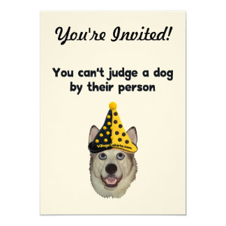 Can't Judge A Dog 5x7 Paper Invitation Card