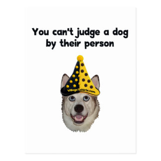 Can't Judge A Dog Postcard