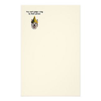 Can't Judge A Dog Customized Stationery