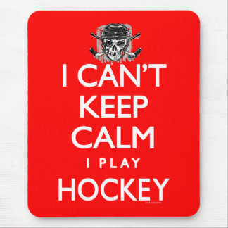 Can't Keep Calm Hockey Mouse Pad