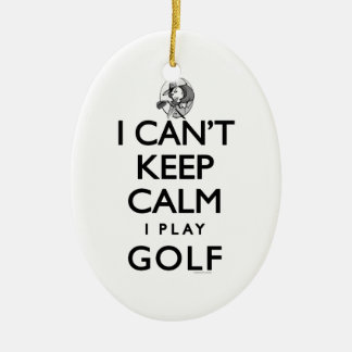 Can't Keep Calm Ladie's Golf Ceramic Ornament