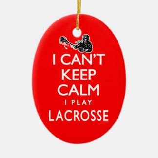 Can't Keep Calm Men's Lacrosse Ceramic Ornament
