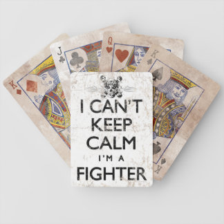 Can't Keep Calm MMA Fighter Bicycle Playing Cards