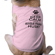Can't Keep Calm Siberian Husky Dog Tee