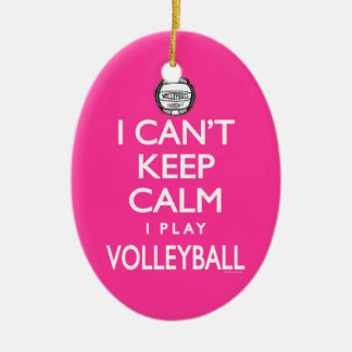 Can't Keep Calm Volleyball Christmas Ornament