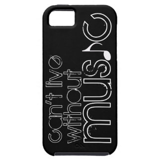 can't live without music iPhone 5 cover