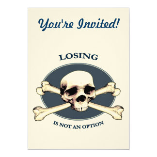 Can't Lose Pirate Skull Card