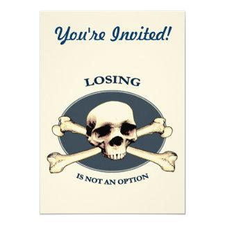 Can't Lose Pirate Skull Custom Invites