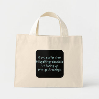 Can't lose this job (sq) canvas bags