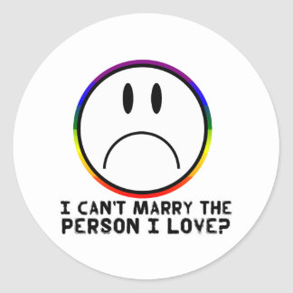 Can't Marry Classic Round Sticker