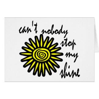 Can't Nobody Stop My Shine With Big Sun, Swirl Card
