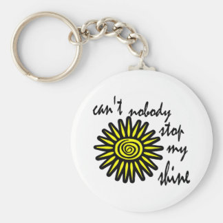 Can't Nobody Stop My Shine With Big Sun, Swirl Keychain