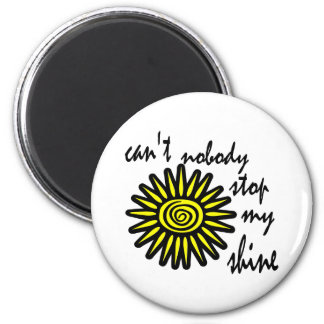 Can't Nobody Stop My Shine With Big Sun, Swirl Refrigerator Magnet