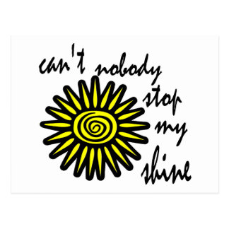 Can't Nobody Stop My Shine With Big Sun, Swirl Postcard