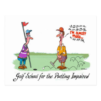 Can't Put - For the Putting Impaired Postcard