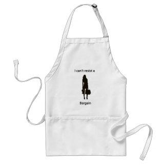 Can't resist a bargain adult apron