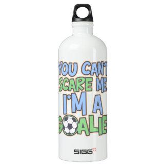 - Can't Scare Me Goalie Aluminum Water Bottle