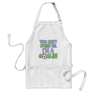 Can't Scare Me I'm A Goalie Adult Apron