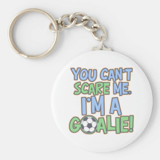 Can't Scare Me I'm A Goalie Basic Round Button Keychain