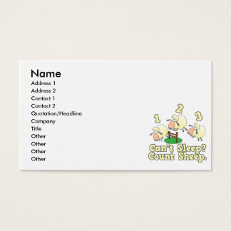 cant sleep count sheep cute cartoon design business card